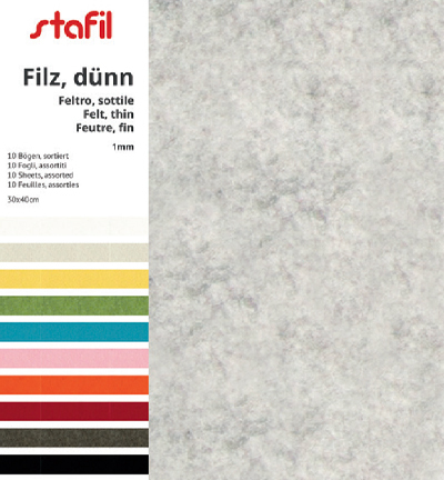 59728 Stafil Set 10 colors / 30x40cm x 1mm (250170-99).