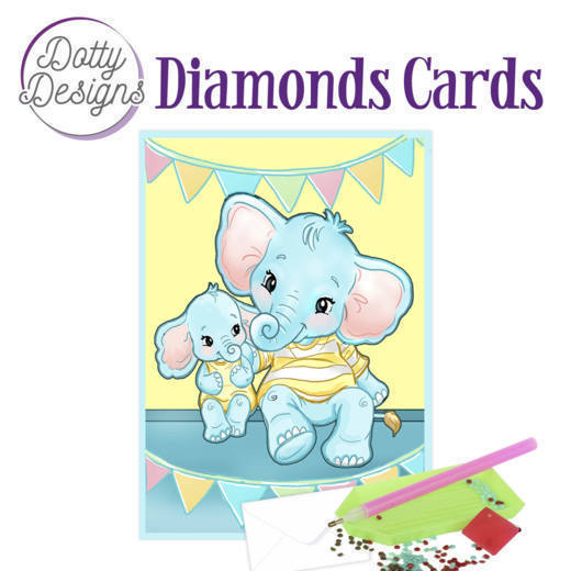 59955 DDDC1024 Dotty Designs Diamond Card - Elephants.