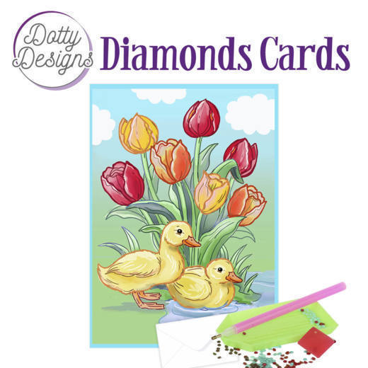 59958 DDDC1022 Dotty Designs Diamond Card - Ducks.