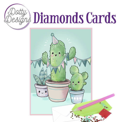 59959 DDDC1019 Dotty Designs Diamond Card - Cactus.