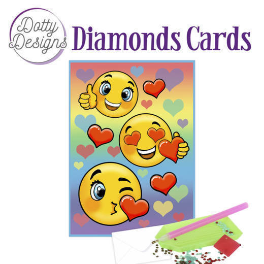 59960 DDDC1020 Dotty Designs Diamond Card - Smileys.