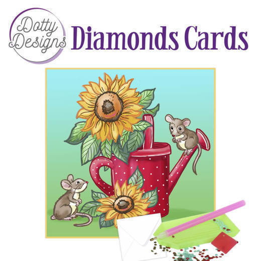 59961 DDDC1016 Dotty Designs Diamond Cards - Sunflowers.