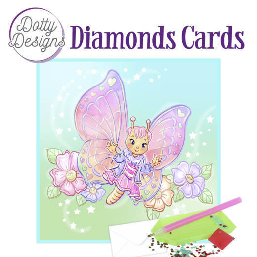 59964 DDDC1021 Dotty Designs Diamond Cards - Butterfly.