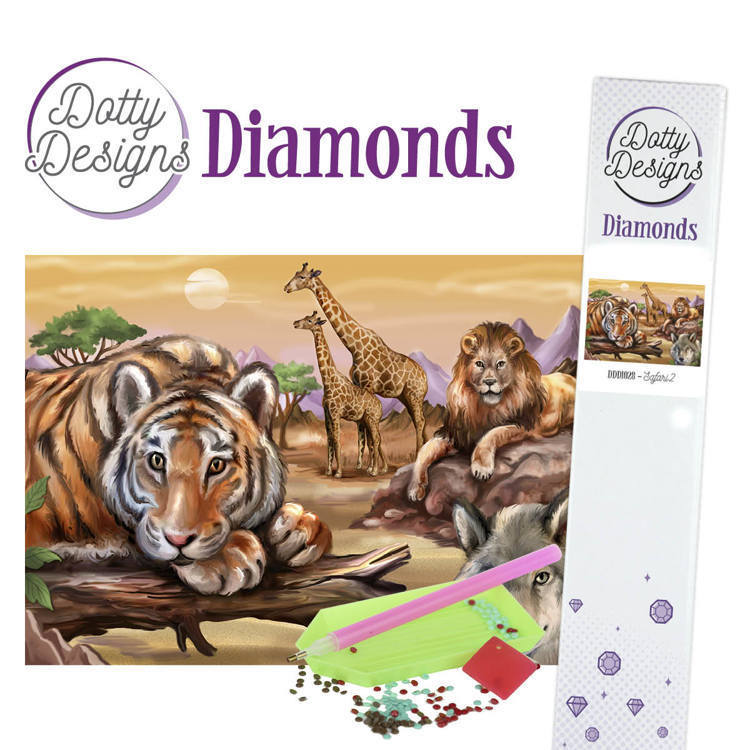 60166 DDD1028 Dotty Designs Diamonds - Safari 2.