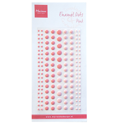 61043 MD - Enamel Dots - Two Pink (PL4517).