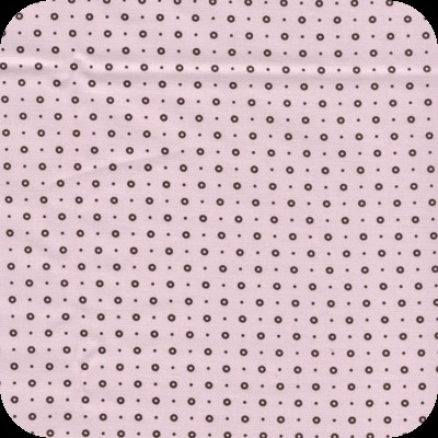 2752 Tilda Stof Pink with Brown Dots (0080 744).