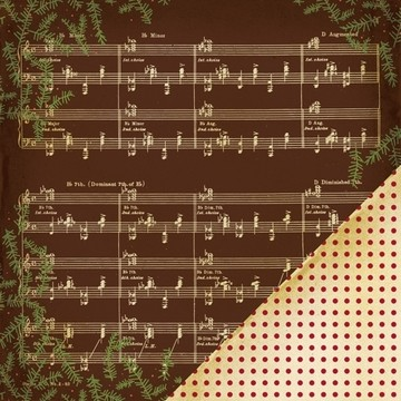 5633 MM Noel Music Note Brown (35582).