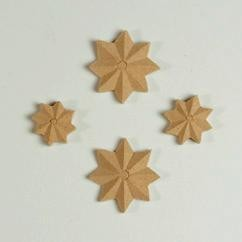 7276 Relief Ornamenten mdf-ster 4 ST [118221/1807].
