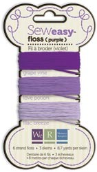 8399 Sew Easy Floss (Carded) 26.1 Yards Purple.