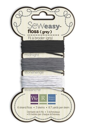9010 Floss assortment Sew Easy grey (71069-1).