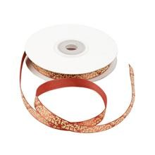 9378 Decoratief lint, 10 mm, rood/wit, Ornamenten (51428).