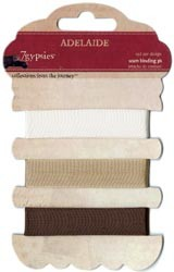 "11259 7 Gypsies Seam Binding .5""X1 Yard Rolls 3/Pkg Adelaide."