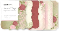 11266 English Rose Mini Journal Tags Die-Cut Paper Pad 2