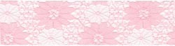 "11664 Lace Ribbon 1-1/2"" Pink (411369)."