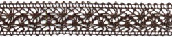 11665 Crocheted Thread Ribbon 1-1/2 Brown (394672).