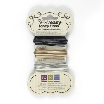 12046 Floss assortment variegated neutrals.