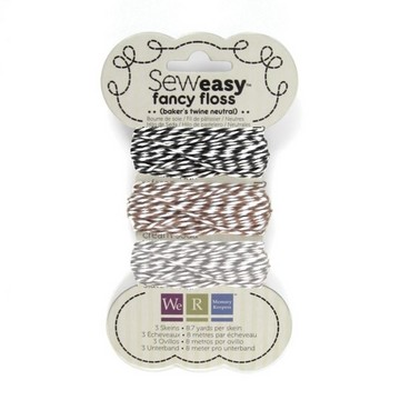 12047 Floss assortment bakers twine neutrals.