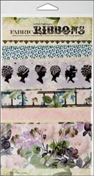 "12188 Hollywood Vogue Fabric Ribbon 5 Styles/18"" Each (458152)."