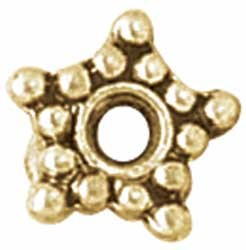 12446 Blue Moon Metal Spacer Beads Gold Large Star 16/Pkg.