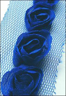 13278 Flower Ribbons Dark Blue (FR1117).