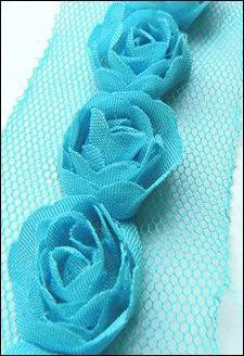 13279 Flower Ribbons Light Blue (Aqua)(FR1118).