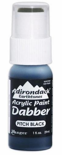 13855 Adirondack Acrylic Paint Dabbers Pitch Black.