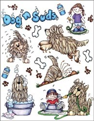 14739 Penny Black Sticker Sheet Dog`n Suds.