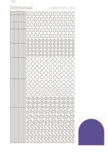 14772 Hobbydots sticker - Mirror - Purple 010.