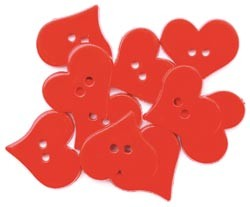 15437 Favorite Findings Buttons Valentine`s Hearts 12/Pkg.