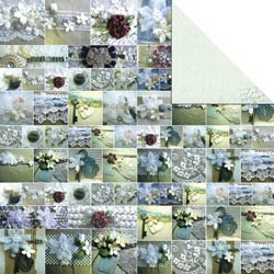 "15870 Memory Mosaics 2-Sided Cardstock 12""X12 Miexed Media,."