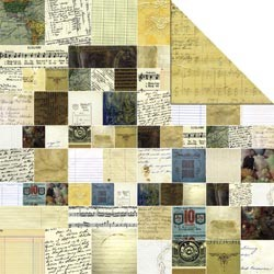 "15871 Memory Mosaics 2-Sided Cardstock 12""X12 Vintage paper."