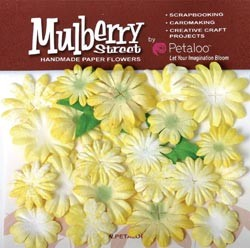 15891 Mulberry Street Paper Tie-Dye Small Daisies 24/Pkg Yellow.
