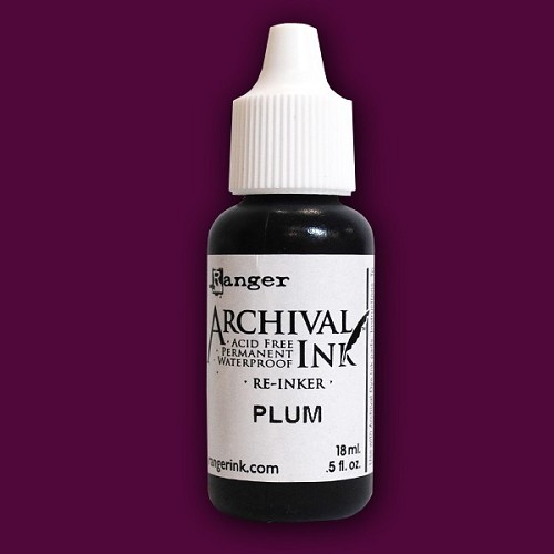 15899 Archival Reinker .5 Ounce Plum.