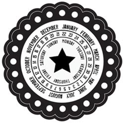 16084 Itty Bitty Simple Stories Cling Stamp Monthly Circle (125019).