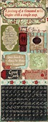 "16362 Serenity Cardstock Stickers 4.5""X12 Good Fortune."