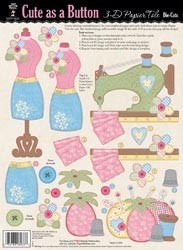 16378 3-D Papier Tole Die-Cuts Cute as a Button.