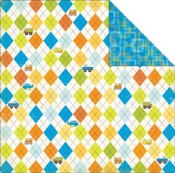 16619 Bo Bunny On The Go 2-Sided Paper Argyle.