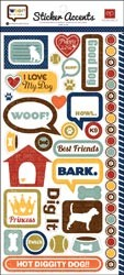 17296 Woof Stickers.