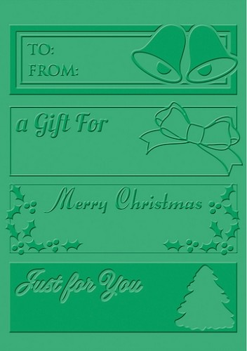 18524 Embossing Stencil Christmas Tags.