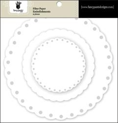 18688 Artist Edition Filter Paper Embellishments 9/Pkg Scallop.