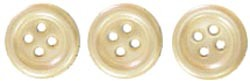 18690 Self-Adhesive Pearl Buttons 6/Pkg Yellow.