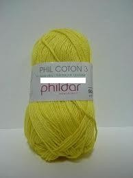 20531 Phildar Cotton 3 Citron 1111.