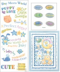 20702 Coordinating Embellishments 3 Sheets/Pkg Baby Boy.