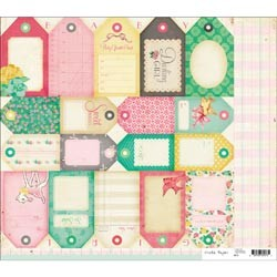 20723 Little Bo Peep Double-Sided Cardstock Tag Cuts.