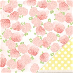 20758 AC Dear Lizzy Neapolitan 2-Sided Paper Fresh Blooms.