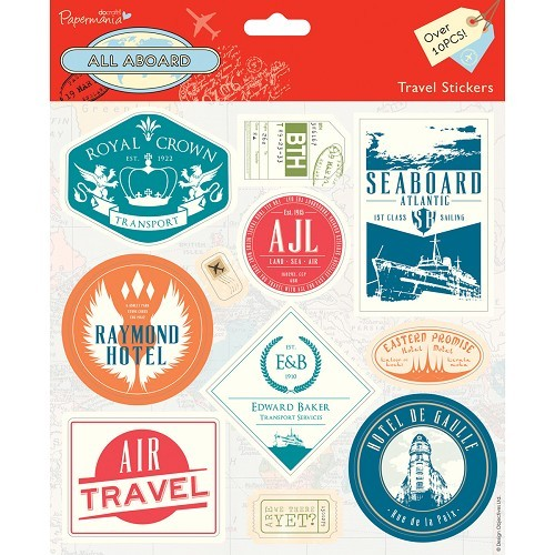 21567 Travel Stickers (11pcs) - All Aboard.