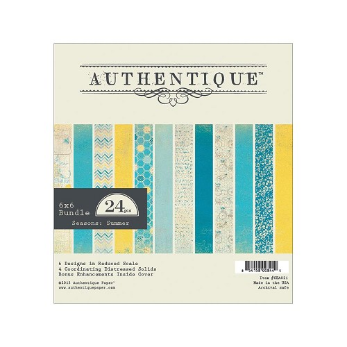 "21612 Autentique Seasons Summer Bundle Cardstock Pack 6""X6"" 24/Sheets."