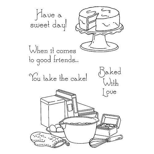 21656 Inky Antics Clear Stamps Baking Time 10x15 cm.