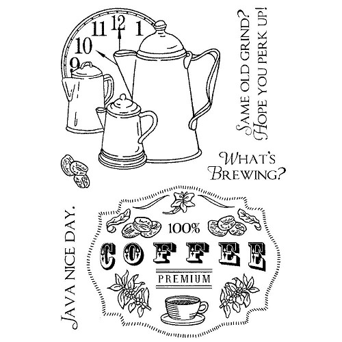 21657 Inky Antics Clear Stamps 10x15cm Coffee Time.