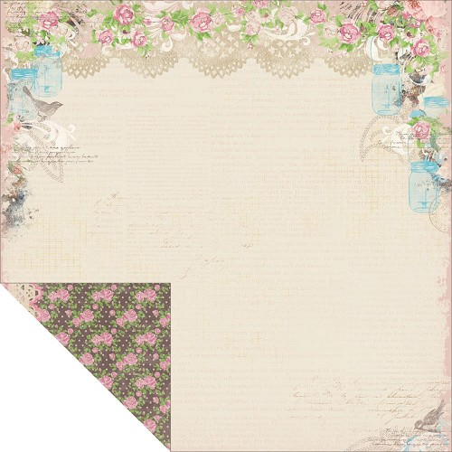 21666 Bo Bunny Prairie Chic 2-Sided Paper Calico.